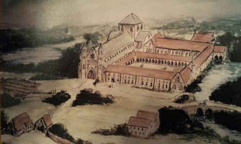 Artistic Impression of Merevale Abbey